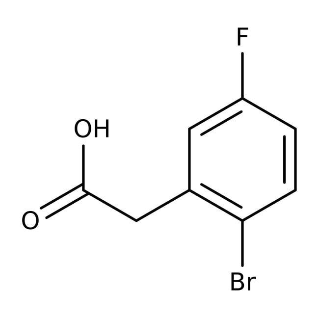Alfa Aesar™2-Bromo-5-fluorophenyl acetic acid, 96% 25g Alfa Aesar™2-Bromo-5-fluorophenyl acetic acid, 96%