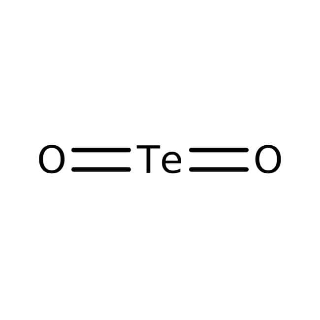 Tellurium(IV) oxide, 99+%, ACROS Organics™ 250g; Glass bottle Tellurium(IV) oxide, 99+%, ACROS Organics™
