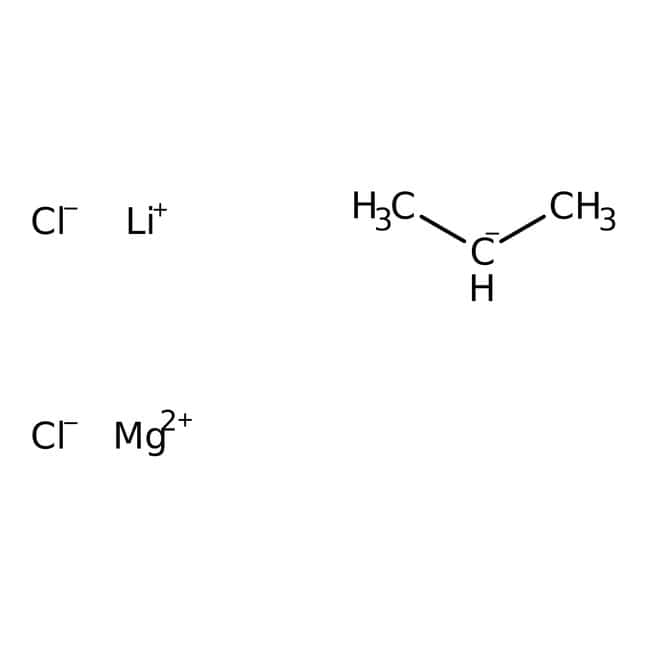 Isopropylmagnesium chloride - Lithium chloride complex, 1.3M solution in THF, AcroSeal™, ACROS Organics™ 800mL; AcroSeal glass bottle Isopropylmagnesium chloride - Lithium chloride complex, 1.3M solution in THF, AcroSeal™, ACROS Organics™