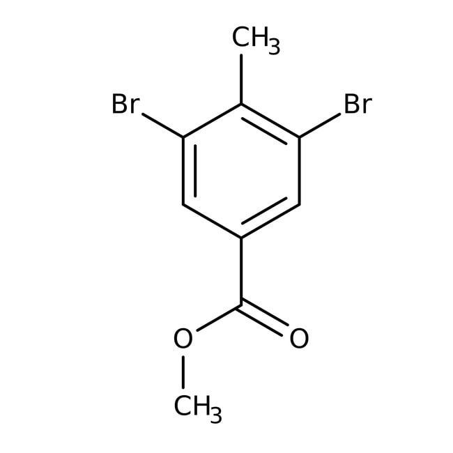 Alfa Aesar™Methyl 3,5-dibromo-4-methylbenzoate, 98%: Halobenzoic acids and derivatives Benzoic acids and derivatives