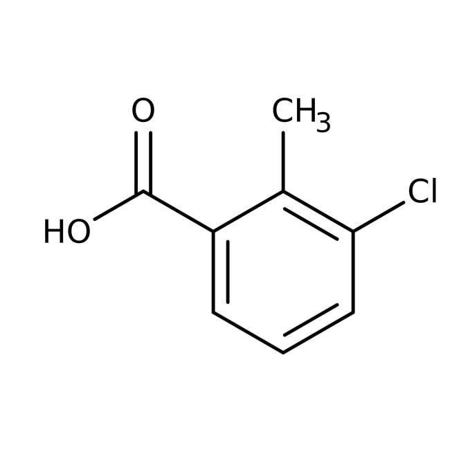3-Chloro-2-methylbenzoic acid, 98%, Acros Organics™: Halobenzoic acids and derivatives Benzoic acids and derivatives