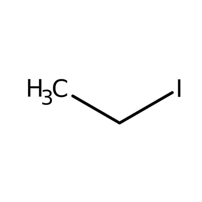 Iodoethane, 98%, pure, stabilized with silver, ACROS Organics