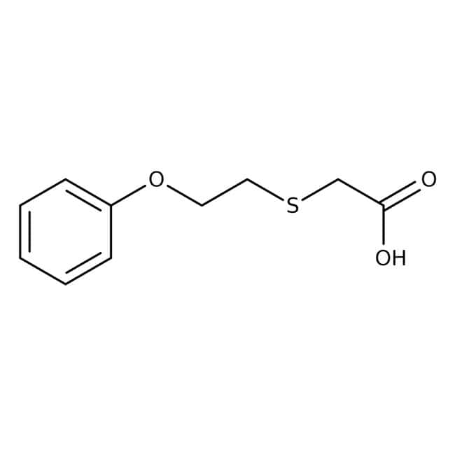 2-[(2-Phenoxyethyl)thio]acetic acid, 97%, Maybridge Amber Glass Bottle; 1g 2-[(2-Phenoxyethyl)thio]acetic acid, 97%, Maybridge