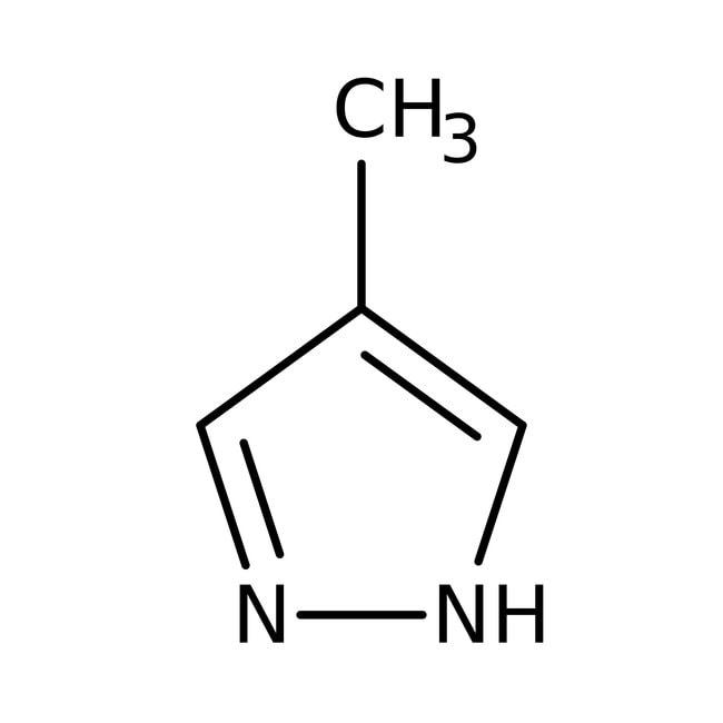 4-méthylpyrazole, 97%, ACROS Organics™ 1g; flacon en verre 4-méthylpyrazole, 97%, ACROS Organics™