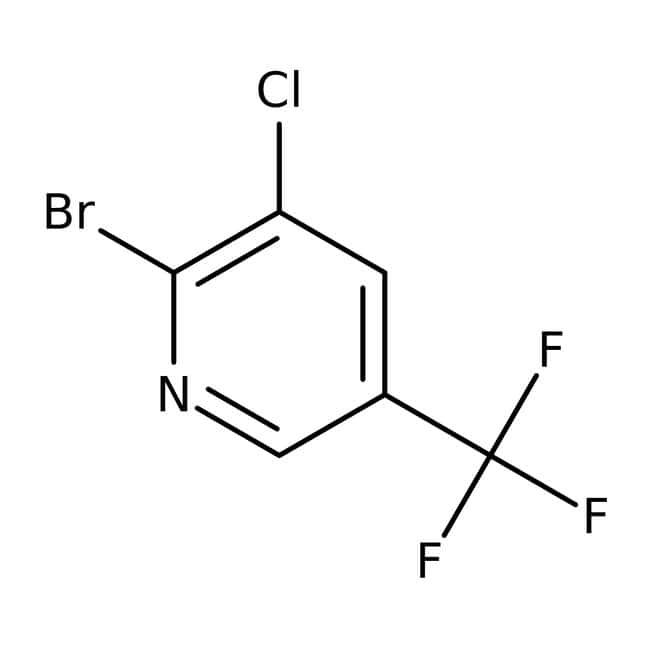 2-Brom-3-chlor-5-(trifluoromethyl)pyridin, 97 %, Maybridge Amber Glass Bottle; 10g 2-Brom-3-chlor-5-(trifluoromethyl)pyridin, 97 %, Maybridge