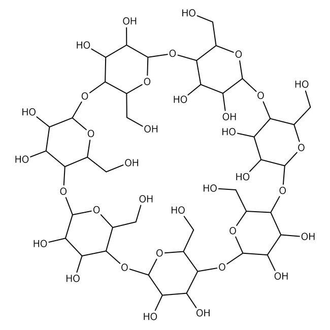 β-Cyclodextrin, 98%, Acros Organics™ 500g β-Cyclodextrin, 98%, Acros Organics™