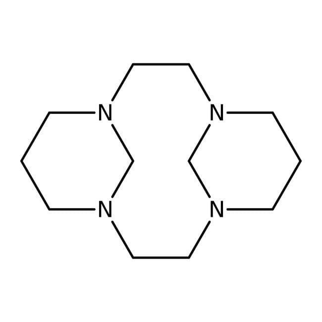 1,4,8,11-Tetraazatricyclo[9.3.1.1(4,8)]hexadecane, Alfa Aesar™ 1g 1,4,8,11-Tetraazatricyclo[9.3.1.1(4,8)]hexadecane, Alfa Aesar™