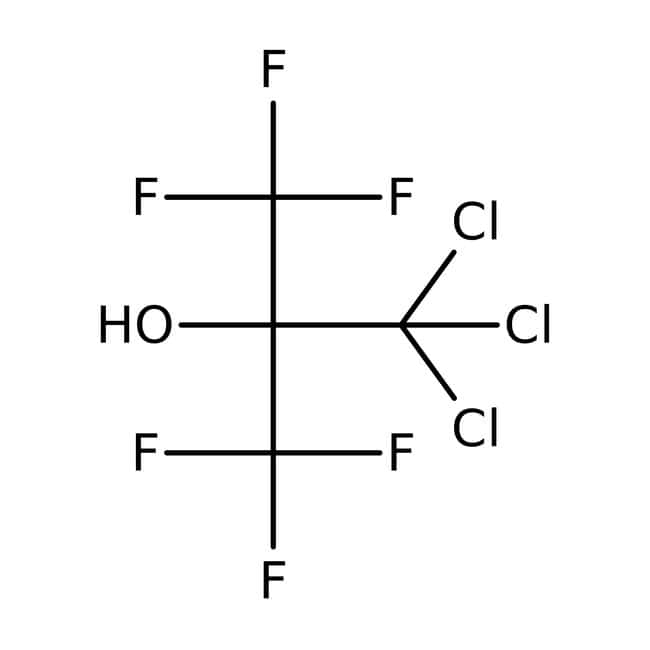 Alfa Aesar™2,2,2-Trichloro-1,1-bis(trifluorométhyl)éthanol, 97% 5g Alfa Aesar™2,2,2-Trichloro-1,1-bis(trifluorométhyl)éthanol, 97%
