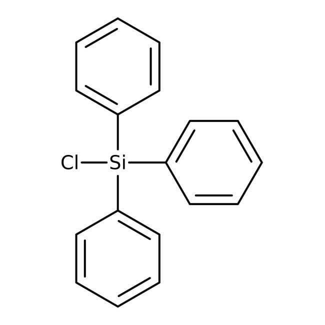Chlorotriphenylsilan, 95%, ACROS Organics™ 25 g-Glasflasche Chlorotriphenylsilan, 95%, ACROS Organics™