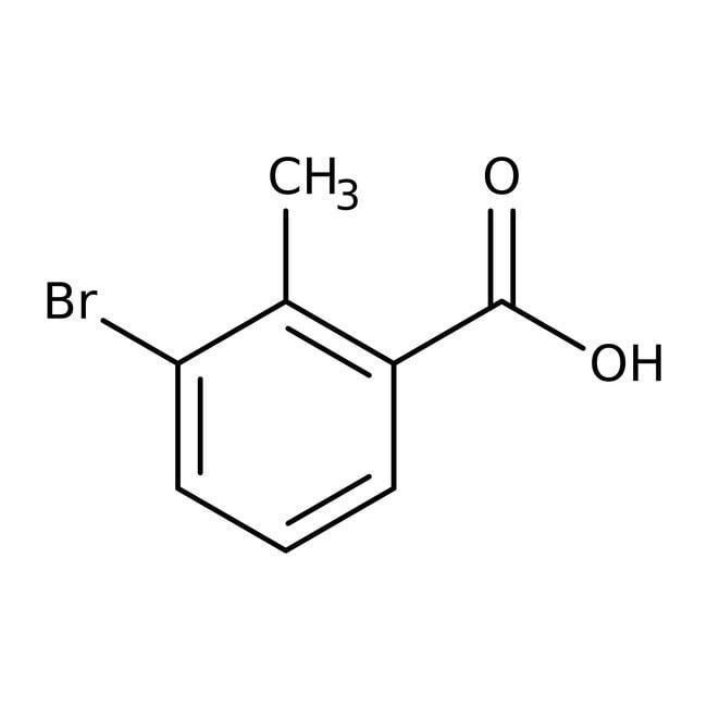 3-Bromo-2-methylbenzoic acid, 97%, ACROS Organics™ 1g; Glass bottle 3-Bromo-2-methylbenzoic acid, 97%, ACROS Organics™