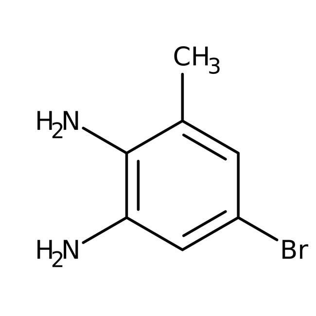 5-Bromo-3-methyl-benzene-1,2-diamine, 97%, Maybridge Amber Glass Bottle; 5g 5-Bromo-3-methyl-benzene-1,2-diamine, 97%, Maybridge