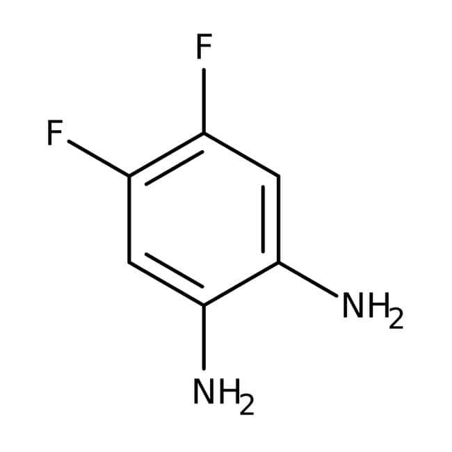 1,2-Diamino-4,5-difluorobenzene, 97%, Acros Organics 25g, Glass bottle 1,2-Diamino-4,5-difluorobenzene, 97%, Acros Organics