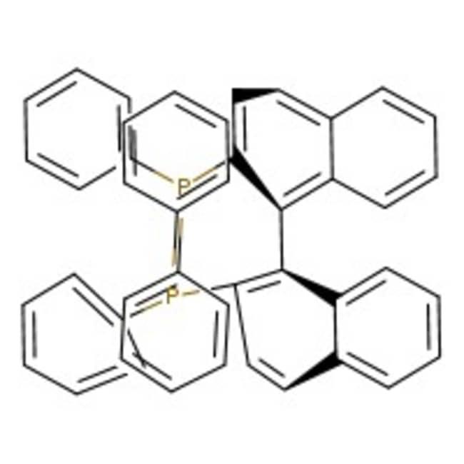 (R)-(+)-2,2'-Bis(diphenylphosphino)-1,1'-binaphthyl, 99+%, Acros Organics Glass bottle; 250mg (R)-(+)-2,2'-Bis(diphenylphosphino)-1,1'-binaphthyl, 99+%, Acros Organics