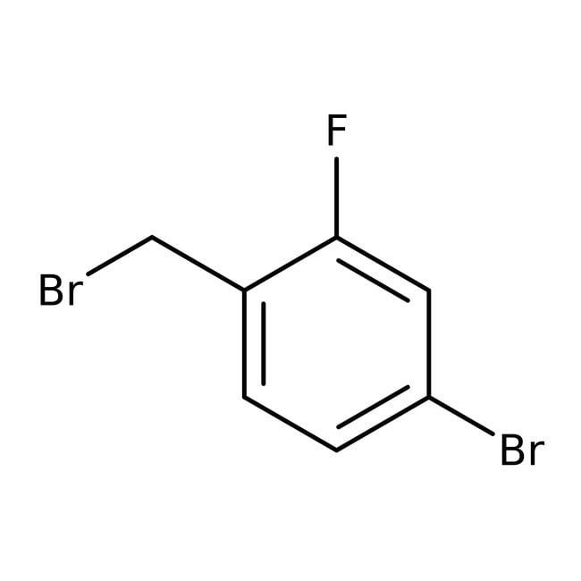 Alfa Aesar™4-Bromo-2-fluorobenzyl bromide, 98% 5g Alfa Aesar™4-Bromo-2-fluorobenzyl bromide, 98%