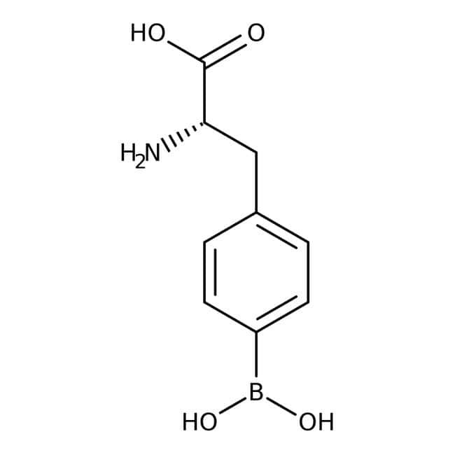 4-Borono-L-phenylalanine, 97%, ACROS Organics™ 250mg; Glass bottle 4-Borono-L-phenylalanine, 97%, ACROS Organics™