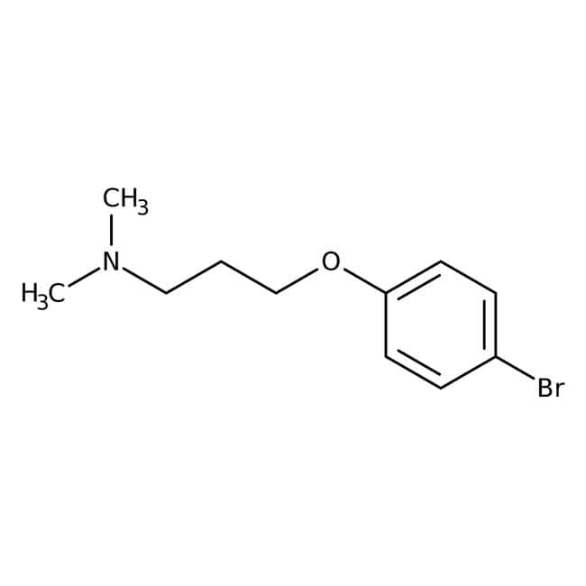 3-(4-Bromophenoxy)-N,N-dimethylpropylamine, 97%, Maybridge™ Amber Glass Bottle; 5g 3-(4-Bromophenoxy)-N,N-dimethylpropylamine, 97%, Maybridge™