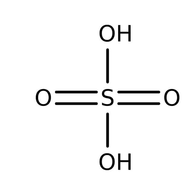 Sulfuric acid, pure, 96.00% (±0.15%) solution in water, ACROS Organics™: Sulfuric Acid (H2SO4) Inorganic Acids