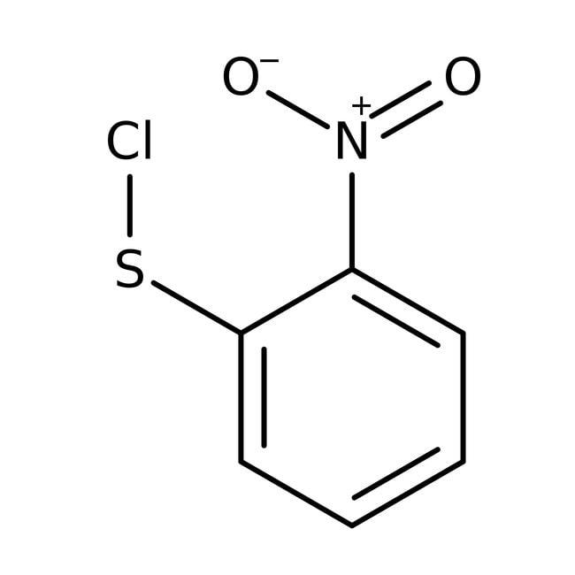 2-Nitrobenzenesulfenyl chloride, 98%, ACROS Organics™ Glass bottle; 50g 2-Nitrobenzenesulfenyl chloride, 98%, ACROS Organics™