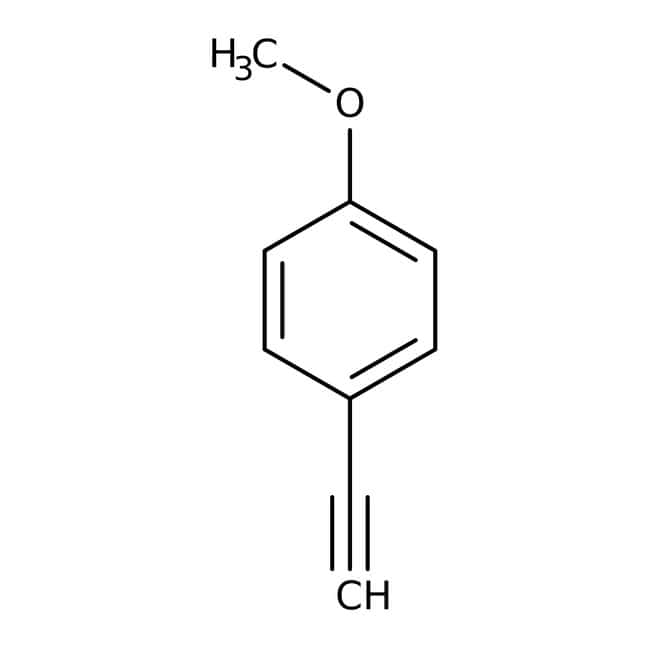 4-Ethynylanisole, 97%, ACROS Organics™ 5g; Glass bottle 4-Ethynylanisole, 97%, ACROS Organics™