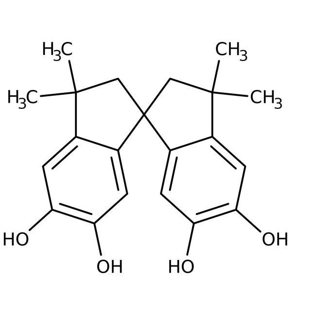 Alfa Aesar™5,5',6,6'-Tetrahydroxy-3,3,3',3'-tetramethyl-1,1'-spirobisindane, 97%