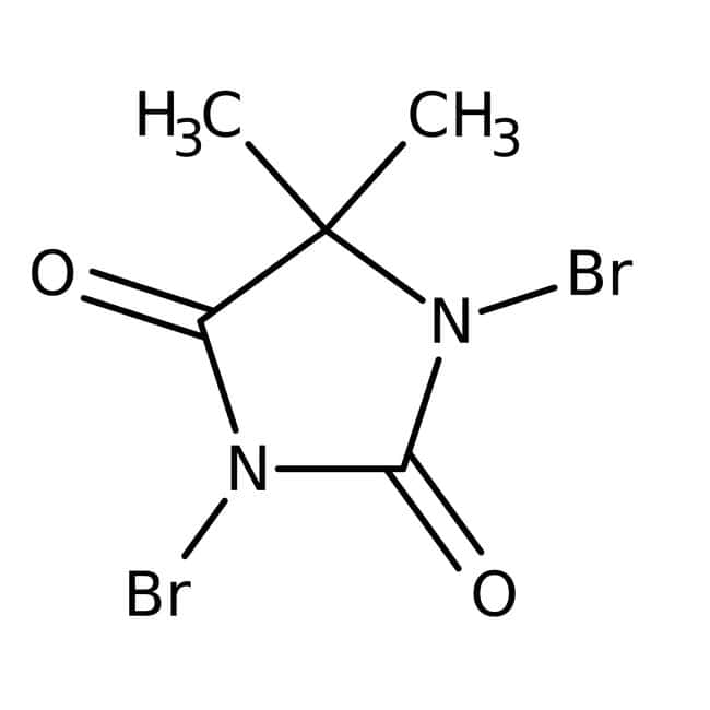 Alfa Aesar™1,3-Dibromo-5,5-dimethylhydantoin, 98% 100g Alfa Aesar™1,3-Dibromo-5,5-dimethylhydantoin, 98%