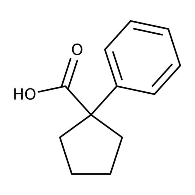 1-Phenylcyclopentanecarboxylic acid, 98%, ACROS Organics™ 25g; Glass bottle 1-Phenylcyclopentanecarboxylic acid, 98%, ACROS Organics™