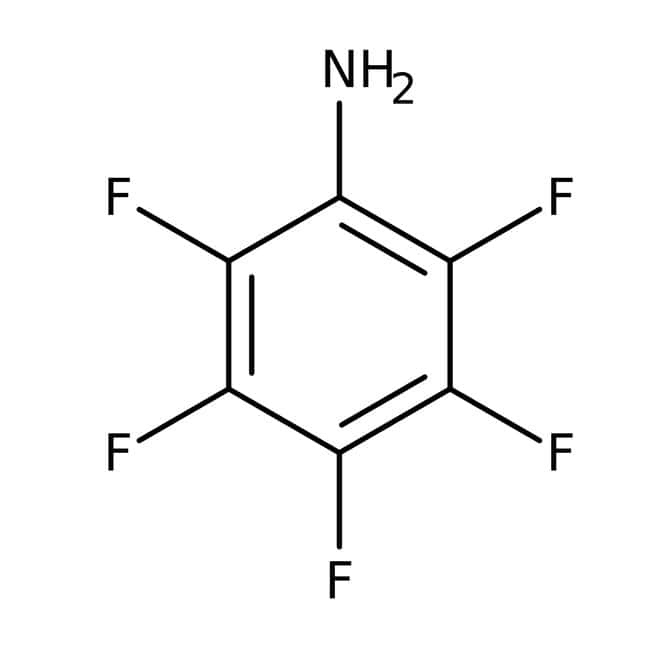 2,3,4,5,6-pentafluoroaniline, 97%, ACROS Organics™ 50g; flacon en verre 2,3,4,5,6-pentafluoroaniline, 97%, ACROS Organics™
