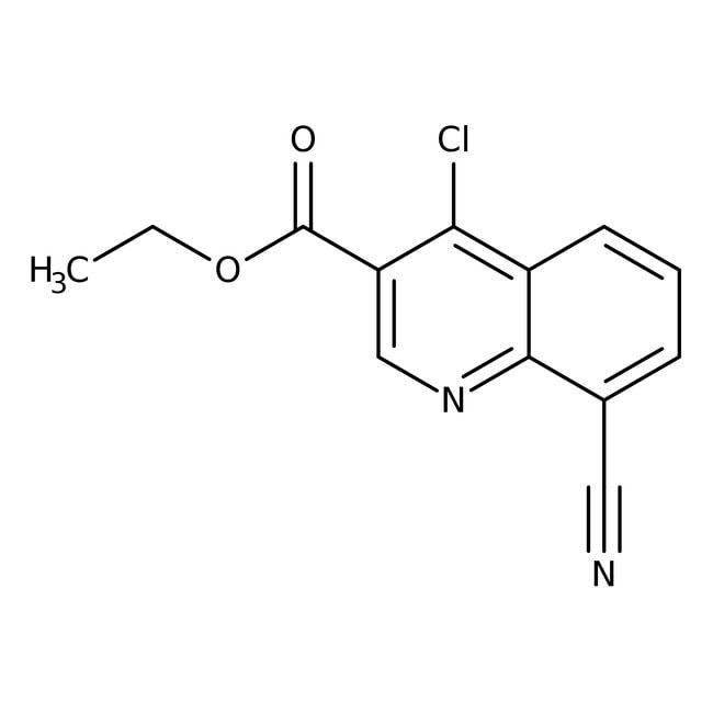 Ethyl 4-chloro-8-cyanoquinoline-3-carboxylate, 97%, Acros Organics
