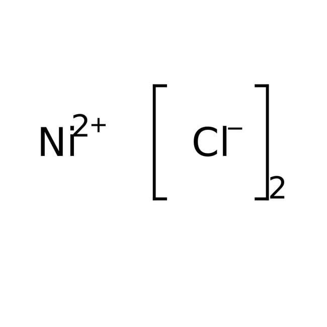 Nickel(II) chloride, 98%, ACROS Organics™ 250g; Glass bottle Nickel(II) chloride, 98%, ACROS Organics™