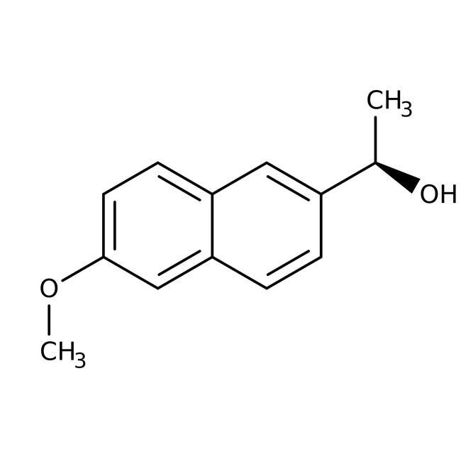 DL-6-Methoxy-α-methyl-2-naphthalenemethanol, 98%, ACROS Organics™ 25g; Glass bottle DL-6-Methoxy-α-methyl-2-naphthalenemethanol, 98%, ACROS Organics™