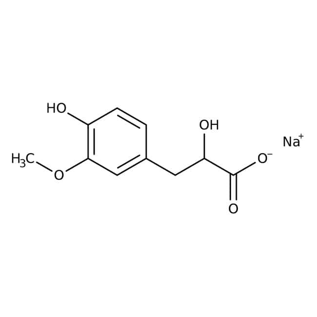 Sodium 3-(4-Hydroxy-3-methoxyphenyl)lactate 99.0 %, TCI America