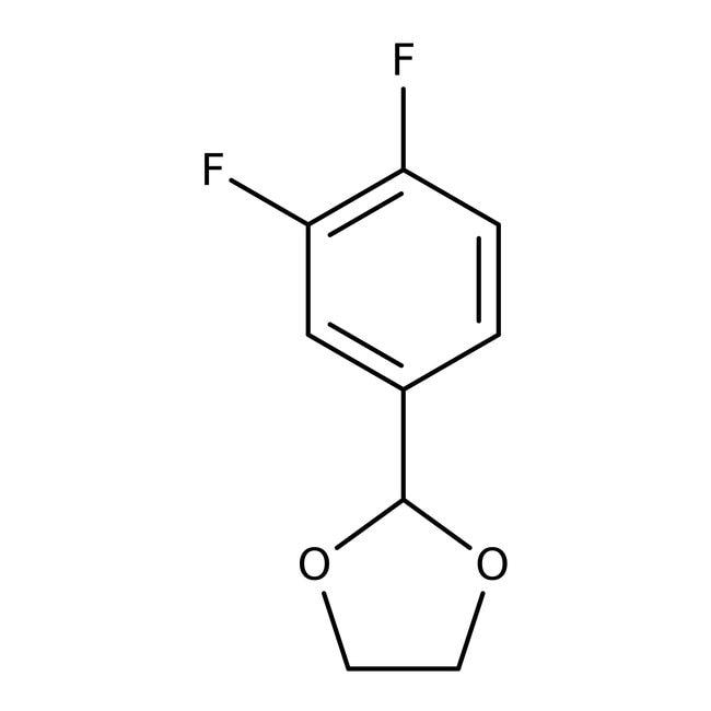 Alfa Aesar™2-(3,4-Difluorphenyl)-1,3-Dioxolan, 98%: Halobenzenes Benzene and substituted derivatives