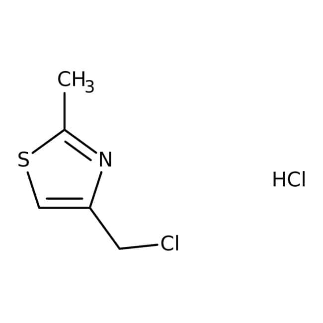 4-(Chlorométhyl)-2-chlorhydrate de méthyl-1,3-thiazole, Tech., Maybridge Flacon en verre ambré ; 250 mg 4-(Chlorométhyl)-2-chlorhydrate de méthyl-1,3-thiazole, Tech., Maybridge