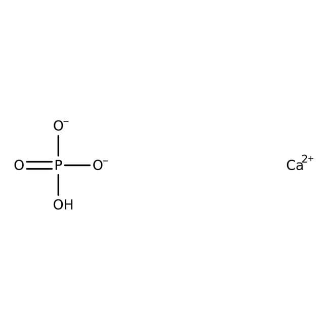 Calcium phosphate, dibasic, 98+%, for analysis, anhydrous, ACROS Organics™ Plastic bottle; 250g Calcium phosphate, dibasic, 98+%, for analysis, anhydrous, ACROS Organics™