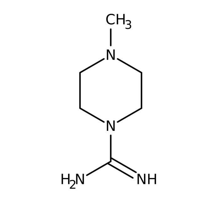 4-Methyltetrahydro-1(2H)-pyrazinecarboximidamide hydroiodide, 97%, Maybridge™ Amber Glass Bottle; 1g 4-Methyltetrahydro-1(2H)-pyrazinecarboximidamide hydroiodide, 97%, Maybridge™