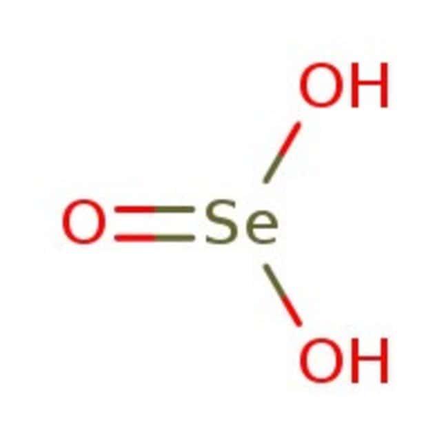 Ácido selenoso, 98%, ACROS Organics™ 50g; frasco de vidrio Ácido selenoso, 98%, ACROS Organics™
