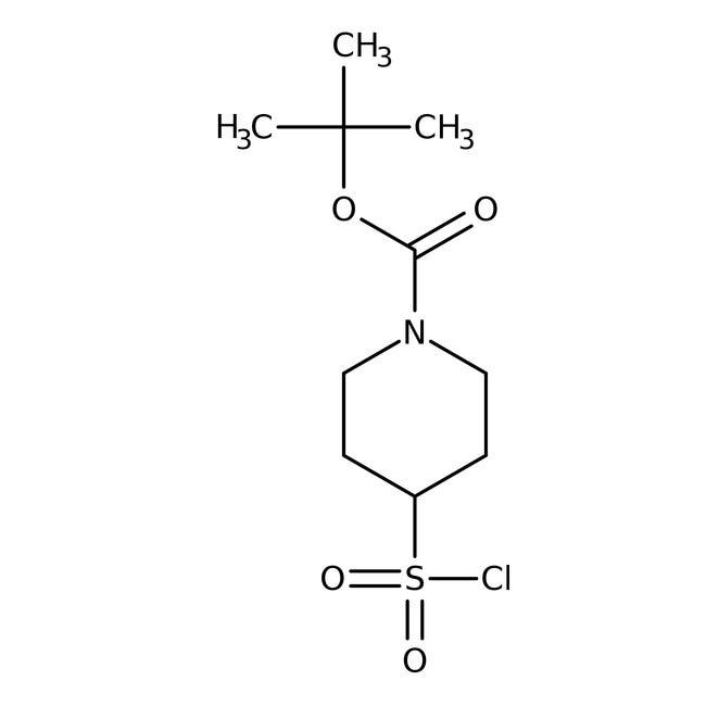 tert-Butyl 4-(chlorosulfonyl)piperidine-1-carboxylate, 97%, ACROS Organics