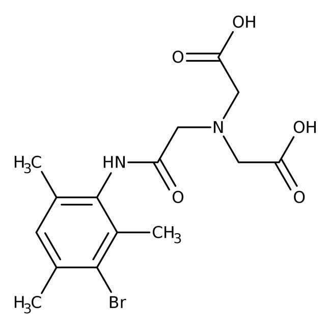 Alfa Aesar™Acide (3-bromo-2,4,6-triméthylphénylcarbamoyl)méthyliminodiacétique, 98+% 5g Alfa Aesar™Acide (3-bromo-2,4,6-triméthylphénylcarbamoyl)méthyliminodiacétique, 98+%