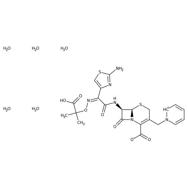 Ceftazidime pentahydrate, 98%, ACROS Organics™ 25g Ceftazidime pentahydrate, 98%, ACROS Organics™