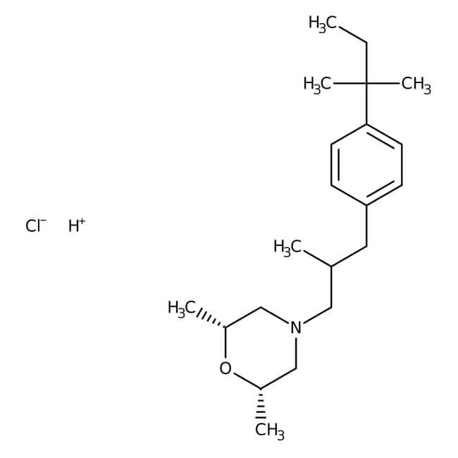 Amorolfine hydrochloride, 98%, Acros Organics™: Benzene and substituted derivatives Benzenoids