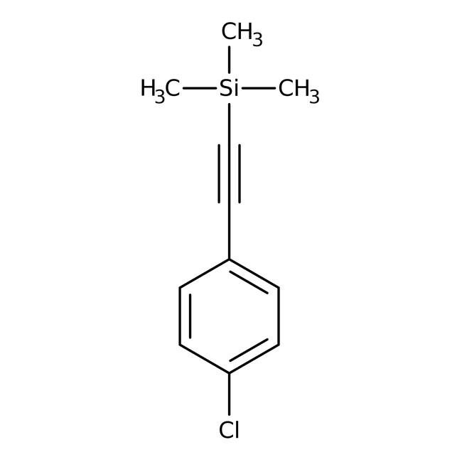 Alfa Aesar™(4-Chlorophenylethynyl)trimethylsilane, 97%