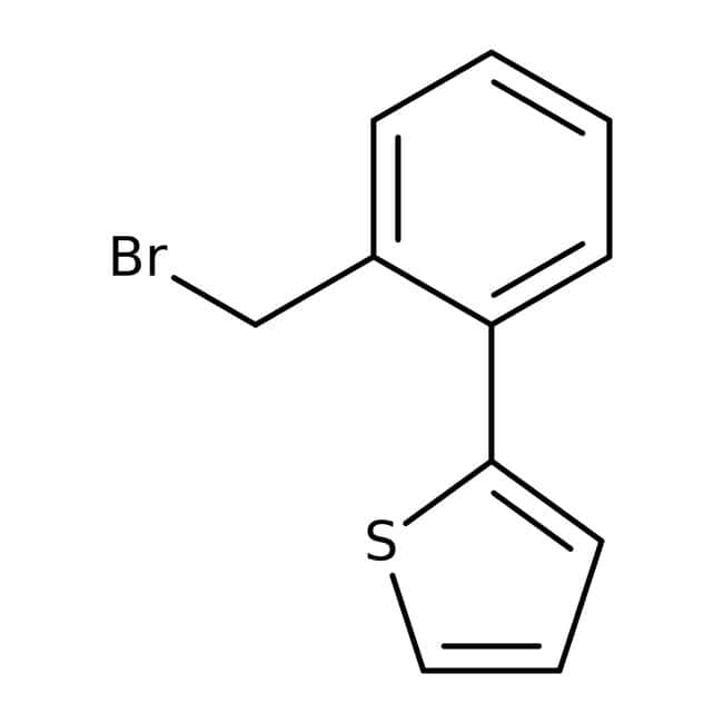 2-[2-(Bromomethyl)phenyl]thiophene, ≥95%, Maybridge™ Amber Glass Bottle; 250mg 2-[2-(Bromomethyl)phenyl]thiophene, ≥95%, Maybridge™