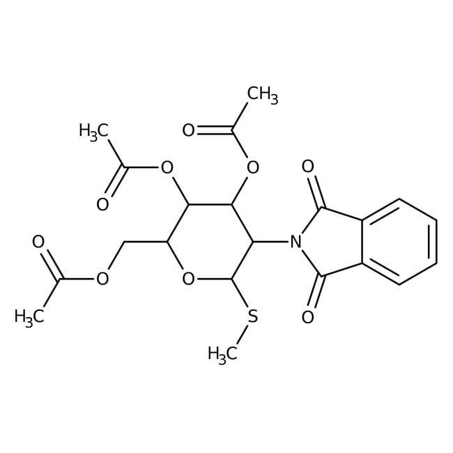 Methyl 3,4,6-Tri-O-acetyl-2-deoxy-2-phthalimido-1-thio-beta-D-glucopyranoside 98.0 %, TCI America