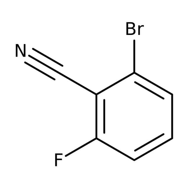 Alfa Aesar™2-Brom-6-fluorbenzonitril, 97% 25g Alfa Aesar™2-Brom-6-fluorbenzonitril, 97%