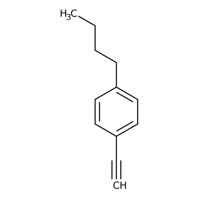 1-Butyl-4-eth-1-ynylbenzene, 97%, Maybridge™ Amber Glass Bottle; 10g 1-Butyl-4-eth-1-ynylbenzene, 97%, Maybridge™