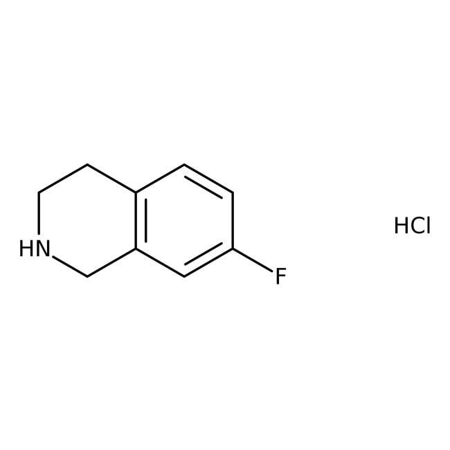 7-Fluoro-1,2,3,4-tetrahydroisoquinoline hydrochloride, 97%, ACROS Organics™  7-Fluoro-1,2,3,4-tetrahydroisoquinoline hydrochloride, 97%, ACROS Organics™