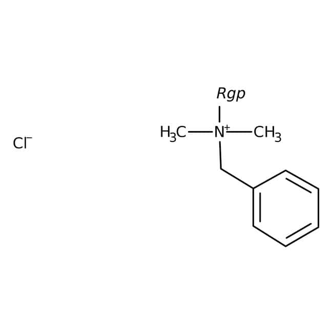 Benzalkonium chloride, alkyl distribution from C8H17 to C16H33, ACROS Organics