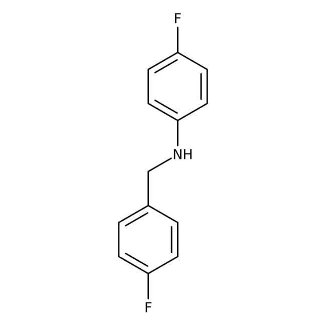 Alfa Aesar™4-Fluoro-N-(4-fluorobenzyl)aniline, 97%: Secondary amines Amines