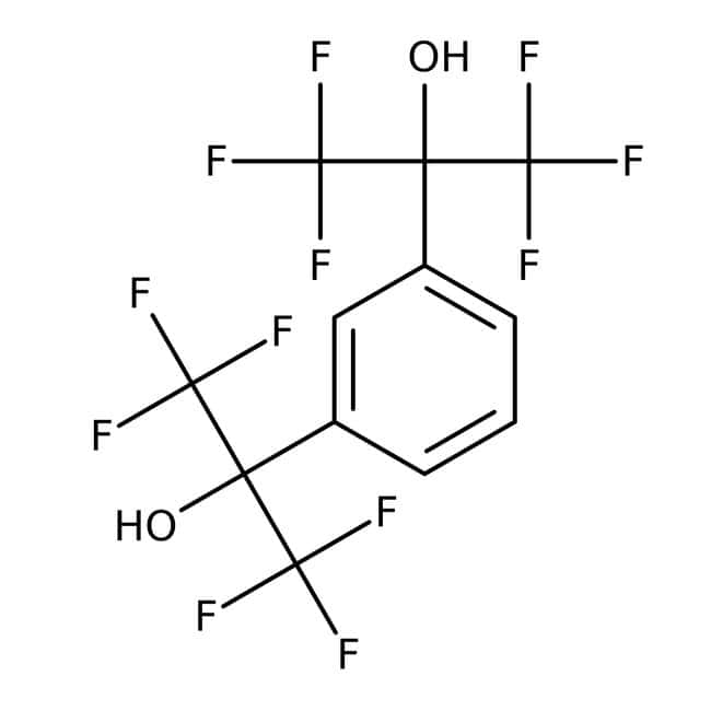 Alfa Aesar™1,3-Bis(2-hydroxyhexafluoroisopropyl)benzene, 96%: Halohydrins Organohalogen compounds