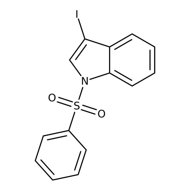 Alfa Aesar™3-Iodo-1-(phénylsulfonyl)indole, 95% 250mg Alfa Aesar™3-Iodo-1-(phénylsulfonyl)indole, 95%